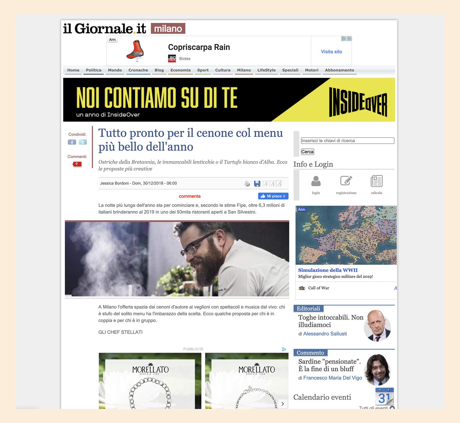 Alberto Gipponi - Il Giornale 2018