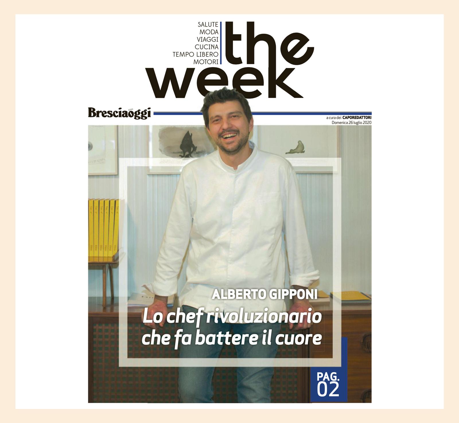 Alberto Gipponi - The week Bresciaoggi - luglio 2020